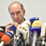 Wolfgang Giese, chief prosecutor,  attends a news conference in Bad Aibling, Germany Tuesday Feb. 16, 2016.