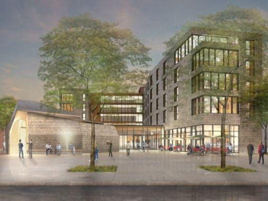 Renderings of St.Thomas Aquinas' proposed residence