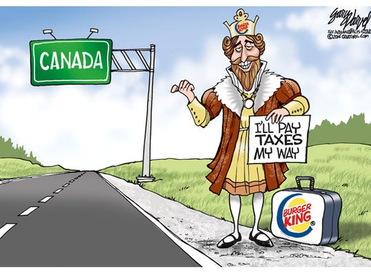 Cartoonist Gary Varvel Burger King And Canada S Tax Rate