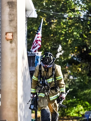 Fire crews responded to a reported fire at 12 Plum St. in North Londonderry Township on Tuesday, October 25, 2016.