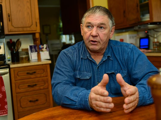 Stanley Helman talks about the changes he has seen over his 20 years as a Chambersburg Area School District board member. Helman was interviewed by reporters at his New Franklin  area home Jan. 4, 2016.