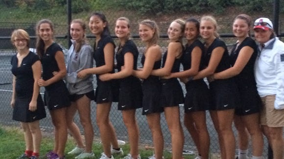 The Asheville High girls tennis team