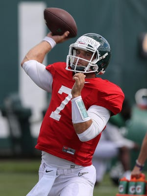 """""""It's not a set-in-stone thing,"""" Tyler O'Connor said after being named MSU's starting quarterback for the season opener. """"I've still got to go out and perform."""""""