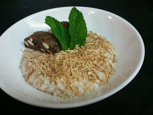 The coconut cream risotto at Rooney's Oceanfront Restaurant