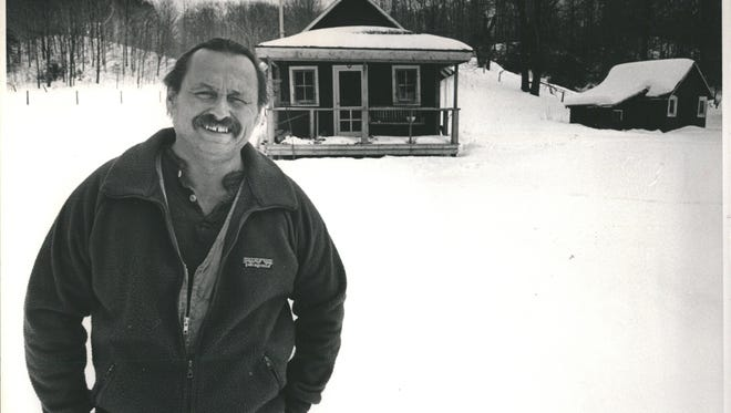Jim Harrison, American author known for his poetry, fiction, essays, reviews, and writings about food.
