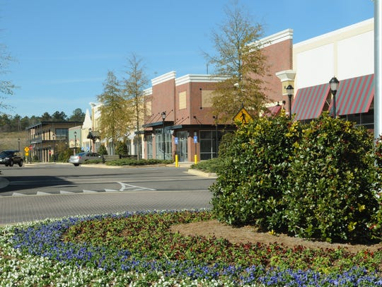 Stores at High Point Town Center on Jan. 6, 2010, in