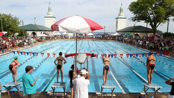 The Westchester County swimming championship at Rye Playland Aug. 6, 2015.