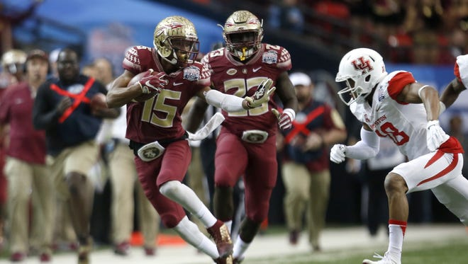 Travis Rudolph caught 59 passes for 916 yards and seven touchdowns in 2015 for FSU.