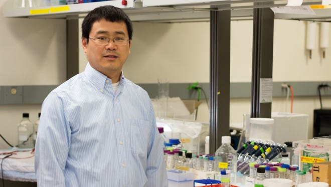ASU biochemist Shengxi Chen has developed a new condom.