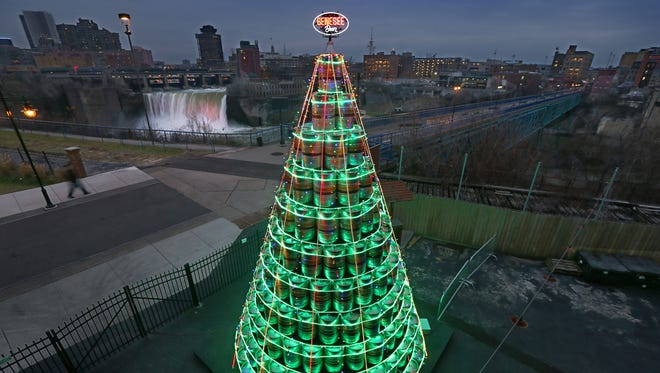 Officials from Genesee Brewery have not yet revealed how they plan to outdo themselves on the keg tree this year.