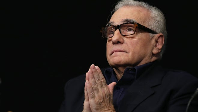 Martin Scorsese during a news conference on Oct. 12, 2015, for the opening of the Martin Scorsese exhibition at the Cinematheque Francaise in Paris. His latest drama, 'Silence,' is now in theaters.