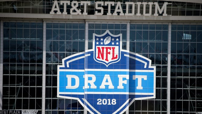 A view of AT&T Stadium prior to the NFL Draft in Arlington, Texas.