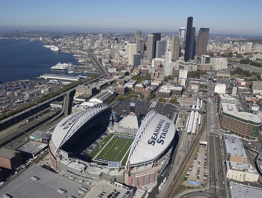 CenturyLink Field, home of the Seattle Seahawks.