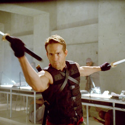 Ryan Reynolds in a scene from the motion picture X-Men Origins: Wolverine.