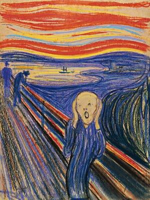 """The Scream"" by Edvard Munch,1895."