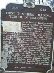 The teachers training school historic sign was installed