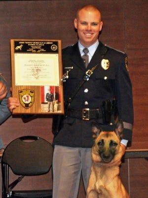 Patrolman  Brandon Haines and his K-9 partner, Jase, graduated from training Friday