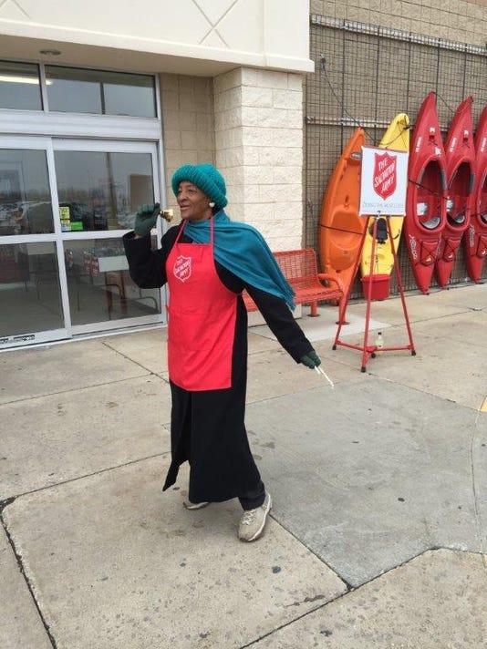 Salvation Army bell ringer.JPG