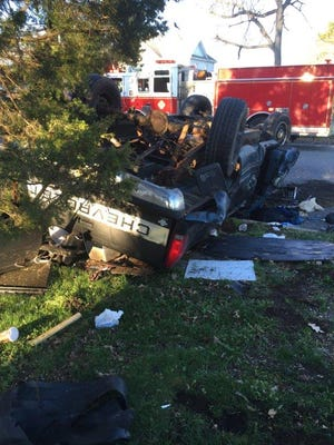 Two drivers were injured in a three-vehicle crash at Spring Road and Chestnut Avenue on March 18.