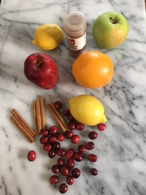 Have fun creating a holiday potpourri with a variety of fruits and spices.