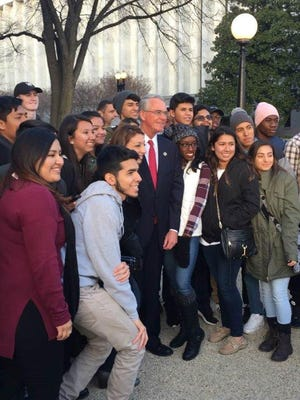 Area students with U.S. Congressman Francis Rooney, R-Naples, during inauguration day activities