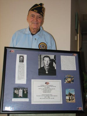 Eugene J. Paradiso told the the heroic story of Pvt. Franklin Earl Sigler, a Passaic County resident who received the Congressional Medal of Honor for bravery during the battle of Iwo Jima.