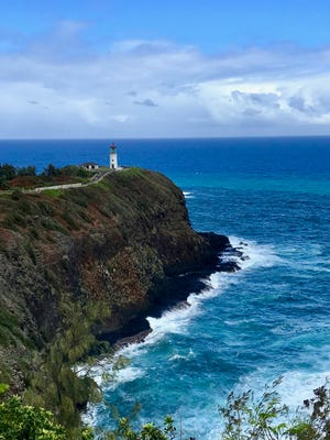 The Kilauea Lighthouse is worth stopping for on the drive from the airport to Hanalei Bay.