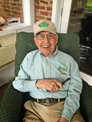 J.W. Stine will celebrate his 100th birthday on July 22.