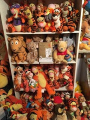 This is just a small sampling of Deb Hoffmann's 10,000-piece-plus Winnie the Pooh collection.