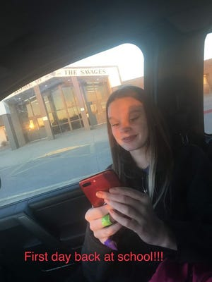 Brooklyn Michelle Nixon, a freshman at Tecumseh High School, returned to school last month and is playing volleyball again after a car accident that left her in critical condition.