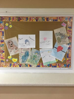 Several children in the community have sent pictures and letters to the residents of Golden Rule Home.
