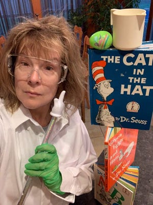 Will Rogers librarian Chandra Swisher in one of several videos she has posted to stay connected with her students during the COVID-19 pandemic.