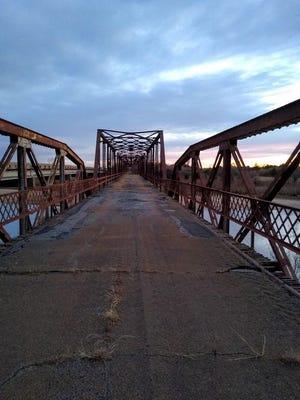 Short-cut bridge over the Cimarron.