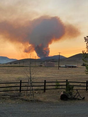Cheyenne Grossman submitted this photo of the Badger Fire, taken from her Montague home on July 18, 2020