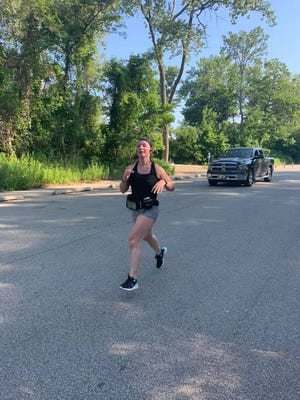 """""""Training for the half marathon gave me a sense of clarity and structure that I feel I've been missing due to the pandemic and all the changes it has brought. I really think the best things in life are unexpected and becoming a runner has definitely proven that for me."""" -- Abby Morrow, 20, of Erie."""