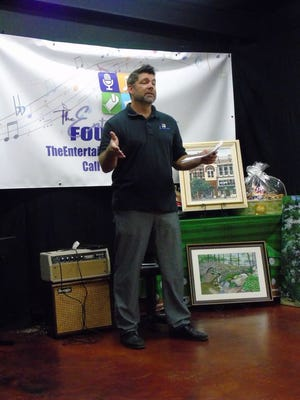 Entertainment Foundation entertainer Ken Goodman speaks at a recent fundraiser for the foundation.