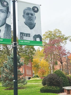 Flags have been placed around the Marshall University campus in remembrance of those who tragically lost their lives in a plane crash on Nov. 14, 1970. Allen Skeens of Ravenswood was one of the causalities in the tragic accident. Tomorrow, Saturday, Nov. 14, will be the 50th anniversary of the crash.