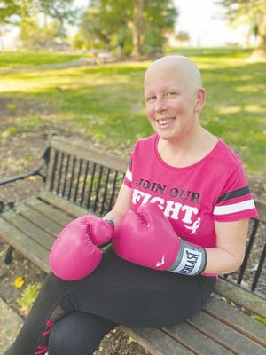 Tracy Jo Sutton, pictured above, said that although cancer decided the journey, she decided to fight and will forever be a PINK warrior.