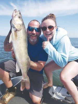 Rachel Benedict with Devils Lake Tourism landed herself a 29 inch walleye recently.