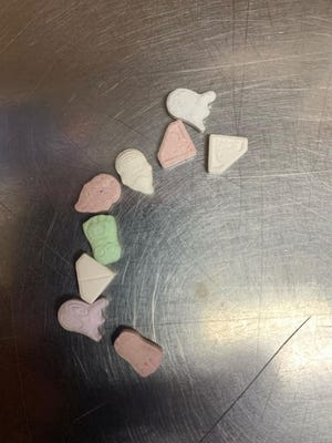 Potosi Police Chief Michael Gum posted photos of the drugs on the department's Facebook page.