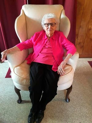 Helen Viola Jackson is shown this April 2017 photo. Jackson was believed to be the last surviving widow of a Civil War soldier when she died Dec. 16, 2020 in Marshfield, Mo. She was 101. In 1936, she was 17 when she married 93-year-old former Union soldier James Bolin. She had been his caregiver and he wanted to marry her so she would receive his soldier's pension. But after he died in 1939, Jackson never applied for the pension.