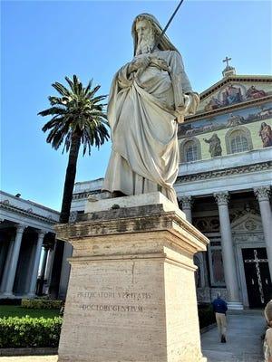 St.Paul, front of St.Paul's Basilica, Rome
