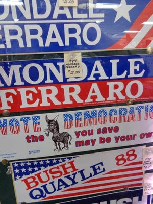 Bumper stickers are prized by collectors.