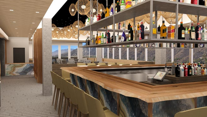 A rendering of the inside of 4 Saints, one of the restaurants opening at the Kimpton Rowan Palml Springs.