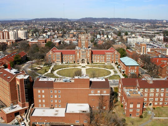 FILE - The Hill and Ayres Hall, University of Tennessee.