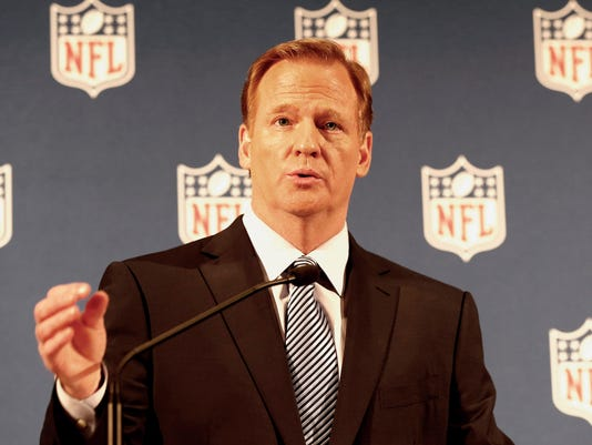 USP NFL: COMMISSIONER ROGER GOODELL-PRESS CONFEREN S FBN USA NY