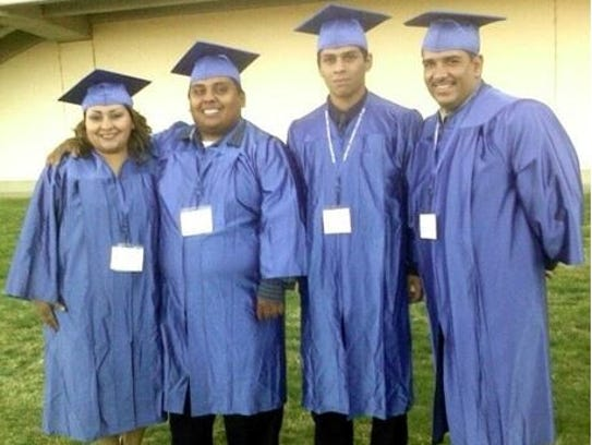 The Salazar family, including Lizet, Luis, Carlos and