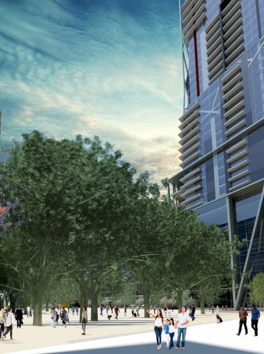 Renderings of the proposed $1.2B downtown Reno redevelopment project.