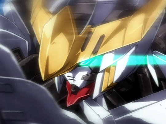 """Mika charges with the Barbatos in """"Gundam Iron-Blooded"""