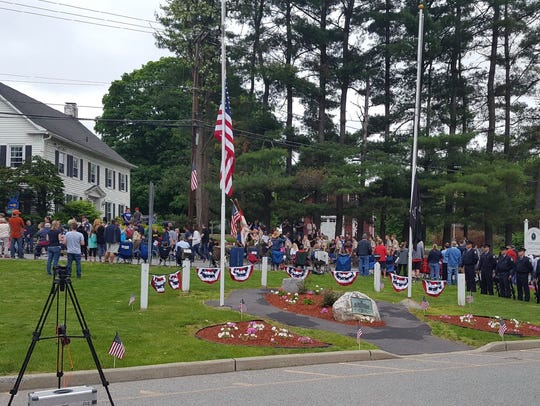 Beekman community members gather for a Memorial Day